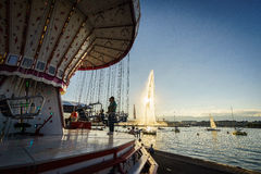 Die Genf-Stadt Stockfotos