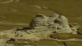 Die geologische Bildung der Sphinxes stock video