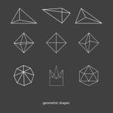 Die geometrischen Formen des Drahtes Lizenzfreie Stockfotos
