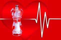 Die gepumpte Stulpe drückt gegen die brachiale Arterie mit Luftdruck zusammen Lizenzfreie Stockfotos
