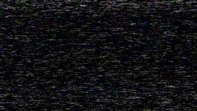 Die Geräusche auf dem Fernsehschirm beim Spielen von alten Heimvideos stock footage