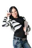 Die Geschäftsfrau mit Dokumenten Stockbilder