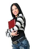 Die Geschäftsfrau mit Dokumenten Stockfotografie