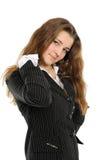 Die Geschäftsfrau nach Arbeit Lizenzfreies Stockbild