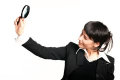 Die Geschäftsmädchenrecherche Lizenzfreie Stockfotografie