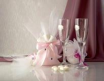 Schone Geschenke Fur Gaste An Einer Hochzeit Stockbild Bild Von