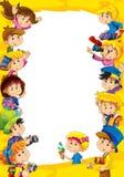 Die Gestaltung für verschiedene Verwendung - mit Leuten im unterschiedlichen Alter - Kleinjugend - für Kinder Stockfotos