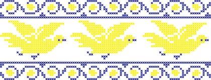 Die gestickten Vögel Stockfoto