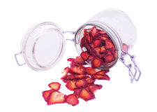 Die getrocknete Erdbeere Stockbilder