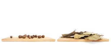 Die Gewürze - Thymian, Kreuzkümmel und Knoblauch stockfotos