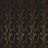 Die gezeichnete Goldhand stellt Muster auf schwarzem Hintergrund gegenüber Stockfotografie
