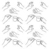 Die gezeichnete Hand übergibt Illustration Lizenzfreies Stockfoto
