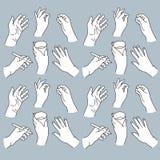 Die gezeichnete Hand übergibt Illustration Stockbilder