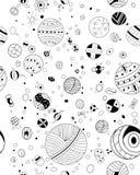 Die gezeichnete Hand kritzelt nahtloses Muster Lizenzfreies Stockbild