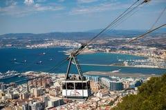 Die Gibraltar-Drahtseilbahn lizenzfreie stockfotos