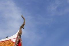 Die Giebelspitze mit Glöckchen Stockbild