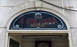 Die Ginjinha-Stange Stockfoto