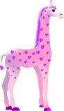 Die Giraffe des Valentinsgrußes Lizenzfreie Stockbilder