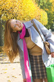 Die glückliche Frau lizenzfreie stockfotos