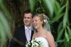 Die glücklichen Paare stockbild