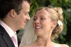 Die glücklichen Paare Stockfoto