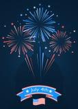 Die glücklichen Unabhängigkeitstag Vereinigten Staaten von Amerika Lizenzfreie Stockfotos