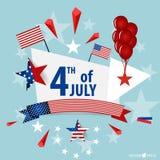 Die glücklichen Unabhängigkeitstagkarte Vereinigten Staaten von Amerika Amerikanisches F stockfotografie