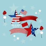 Die glücklichen Unabhängigkeitstagkarte Vereinigten Staaten von Amerika Amerikanisches F lizenzfreies stockfoto
