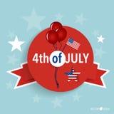 Die glücklichen Unabhängigkeitstagkarte Vereinigten Staaten von Amerika Amerikanisches F lizenzfreies stockbild