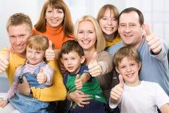 Die glücklichste Familie in der Welt Stockfotografie