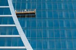 Die Glaswand des Bürohauses Stockbilder