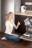 Die glückliche Hausfrau Stockfotos