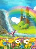 Die Prinzessin - schöne Manga Illustration Lizenzfreies Stockbild