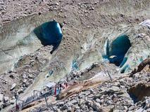 Die Gletscherhöhle Mer de Glace, Chamonix, Frankreich lizenzfreies stockbild