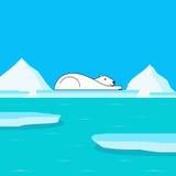 Die globale Erwärmung und polar betreffen Gletscher Lizenzfreie Stockbilder