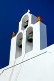 Die Glocken auf Santorini Lizenzfreie Stockfotos