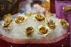 Die goldene Rose Stockfotografie