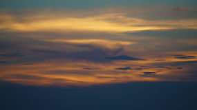 Die goldene Stunde Stockbild