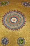 Die goldenen Mosaiken des deutschen Brunnens, Istambul Stockfotografie