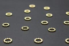 die goldenen Punkte lizenzfreies stockfoto