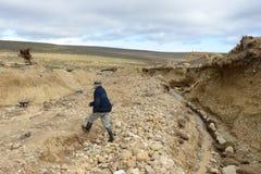 Die Goldmine auf der Insel von Tierra del Fuego Stockfotografie