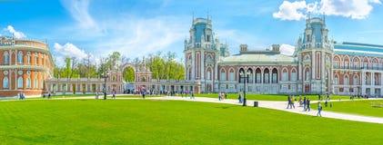 Die gotische Art königlichen Wohnsitzes Tsaritsyno Stockfotos