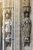 Die gotische Artfassade von Brüssel-StadtRathaus finden bei Grand Place in Brüssel, Belgien Lizenzfreies Stockfoto