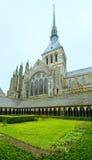 Die gotische Galerie von St- Michaelkloster Mont Saint-Michel, Lizenzfreie Stockbilder