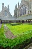 Die gotische Galerie von St- Michaelkloster Mont Saint-Michel, Lizenzfreie Stockfotos