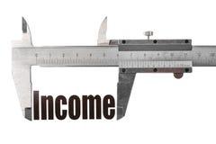 Die Größe unseres Einkommens Stockbilder