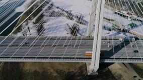 Die größte Brücke in der Welt, Vogelperspektive stock video
