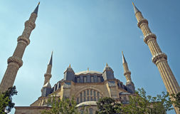 Die größte Moschee in der Türkei Stockfotos