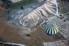 Die größte Touristenattraktion von Cappadocia, der Flug mit dem Ballon bei Sonnenaufgang Stockfoto