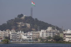 Die größte tricolour Staatsflagge in der Welt hochgezogen in Ranchi Stockfoto